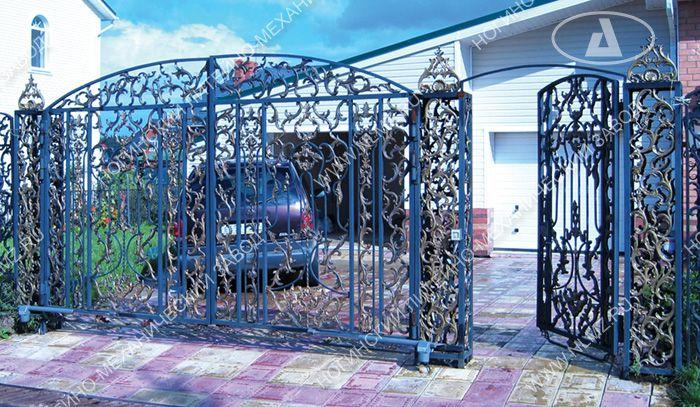 Литые ворота арочные (модель 5).