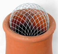 Spark arrester chimney cowl