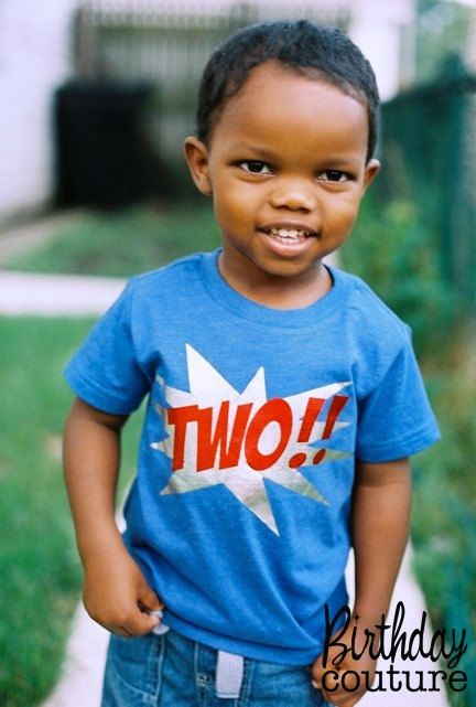 Ka-Pow Birthday Number T-shirt - Superhero Birthday Shirt - Can be customized for any age. on Etsy, $25.00