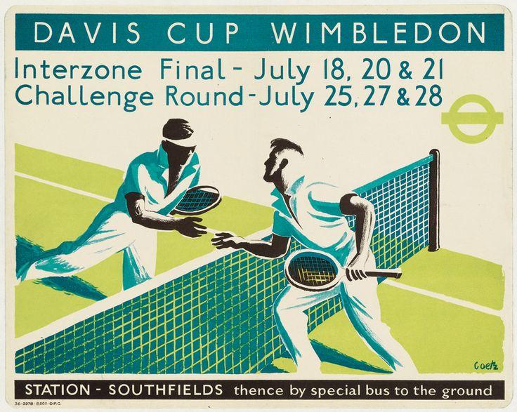 Walter Goetz, Davis Cup Wimbledon, 1936.
