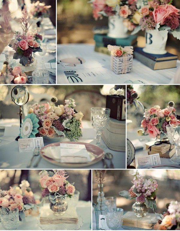 """Vintage wedding theme - - - this is what i originally wanted for my wedding. guess i""""ll have to do this for a shower theme! :)"""