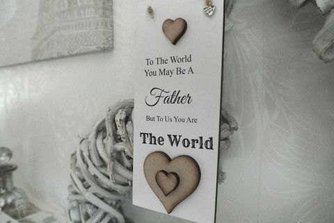 Father World Us Sign - Divine Shabby Chic