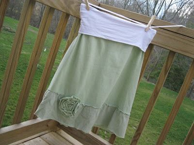 T-shirt Skirt-  I have so many t-shirts and I love skirts for summer