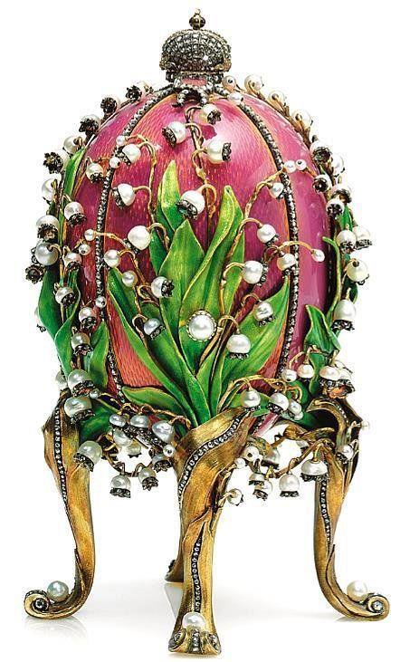 Oeuf de Fabergé  ,  au muguet  (1898)