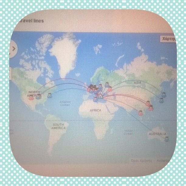 """Simple things that make me smile: My postcrossing map! #CT_Challenges #postcrossing #snail_mail"""