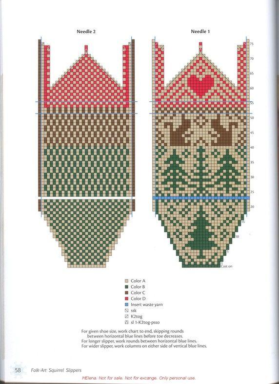 L.Koop The Joy of Sox + A.Gillingham Knitting Più cerchi intorno Calze: due alla volta, le dita dei piedi su o Cuff Giù + L.Farson Knitting scandinavo pantofole e Calzini Knitting_Scandinavian_slippers_and_socks_LauraFarson_060