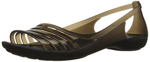SALE PRICE  $44.99 - Open-toe jelly sandal featuring huarache-inspired strappy toe and side cutouts at rear Massaging nubs footbed