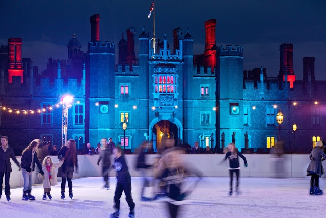 Ice skating with Royalty at Hampton Court Palace