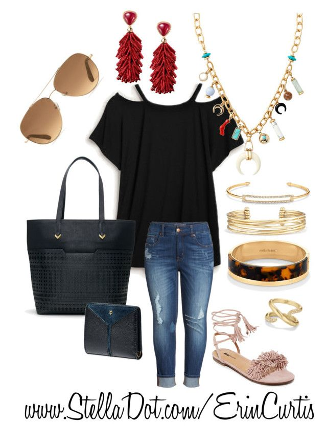 """""""Fall 2017"""" by erin-curtis-916 on Polyvore featuring Stella & Dot, Melissa McCarthy Seven7, Matiko, stelladot, jewelry, daylook, casuallook and sdlove"""