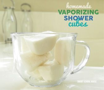 Vaporizing Shower Cubes: don't place them in the direct shower stream. Try putting them on a sponge on the shower floor off to the side (or even in soap dish).