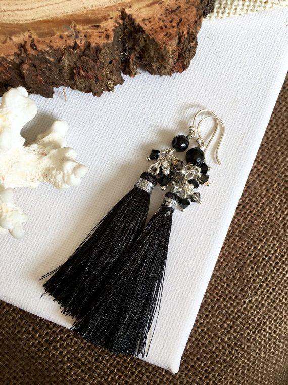 Bridesmaid Jewellery  Tassel Earrings  by GreenGeckoJewellery