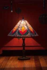 Creative Company | Classy Glass Art: Brightly beaded panel lamps