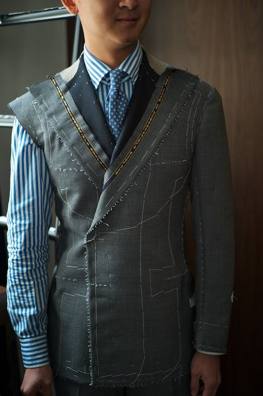 A taste of what a truly Bespoke suit entails. Many many hours and dollars involved. But worth it if you can spend $5,000+