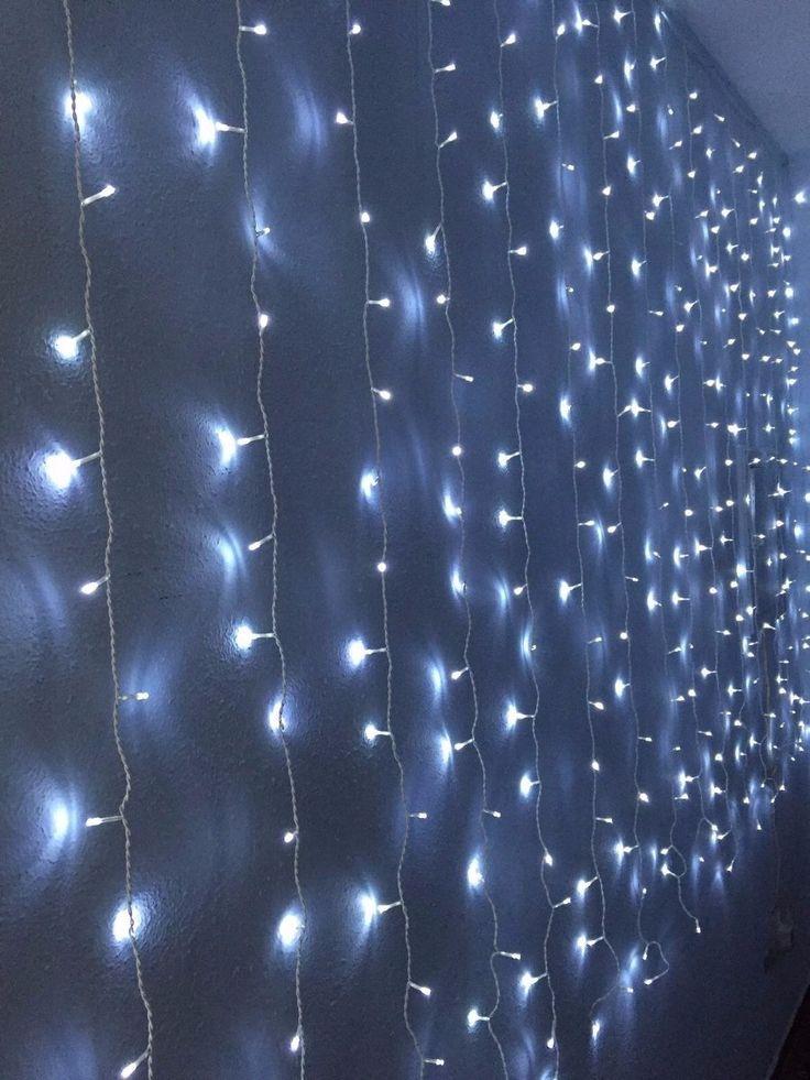 cortina de luces led de metros ancho x metros alto interior navidad