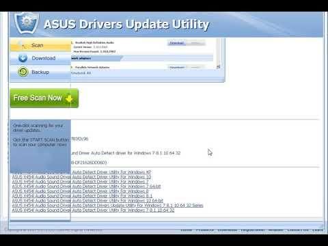 ASUS X454l Audio Sound Driver Auto Detect Driver Utility For Windows