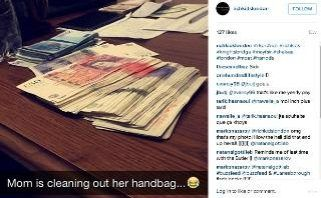 Super-rich caught out by children's Instagram accounts