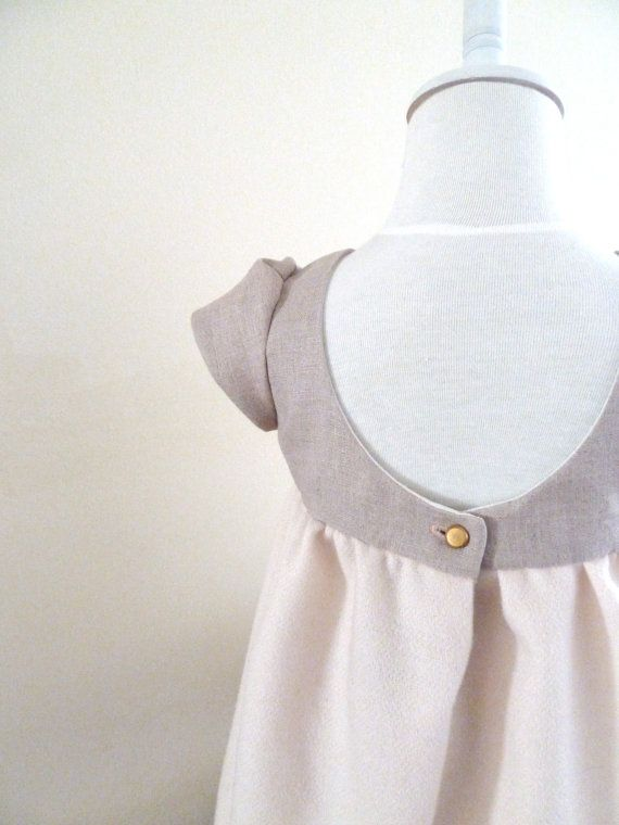 Chic Scoop Back Occasion Dress for Little Ones. $78.00, via Etsy.