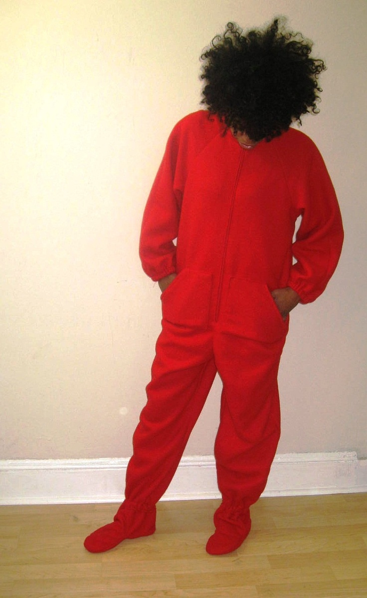 Adult Footed Pajama Sewing Pattern. $14.99, via Etsy.