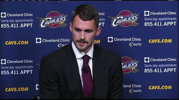 The Cleveland Cavaliers introduced their newest player, Kevin Love, and he spoke about the influence LeBron James had on his decision. #basketball #clevelandcavaliers #kevinlove