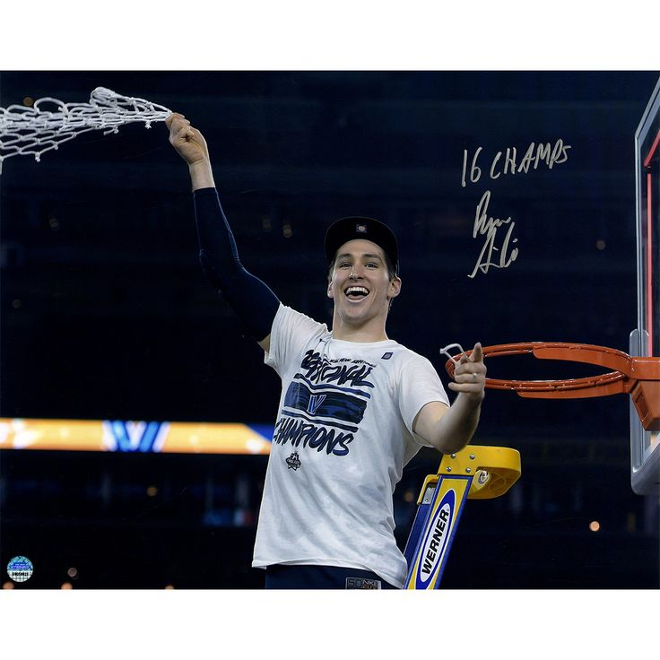 Ryan Arcidiacono Signed Cutting Down Net NCAA Championship 16x20 Photo w/ '2016 NCAA Champs' Insc