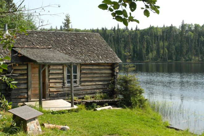 "PRINCE ALBERT NATIONAL PARK | Grey Owl's cabin sits on the shore of Ajawaan Lake | ""Far enough away to gain seclusion, yet within reach of those whose genuine interest prompts them to make the trip, Beaver Lodge extends a welcome to you if your heart is right."" ~ Grey Owl"