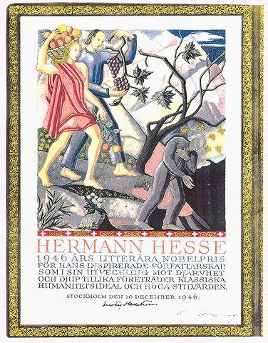 Nobel prize for literature 1946 to Hermann Hesse © Fondazione Hermann Hesse Montagnola