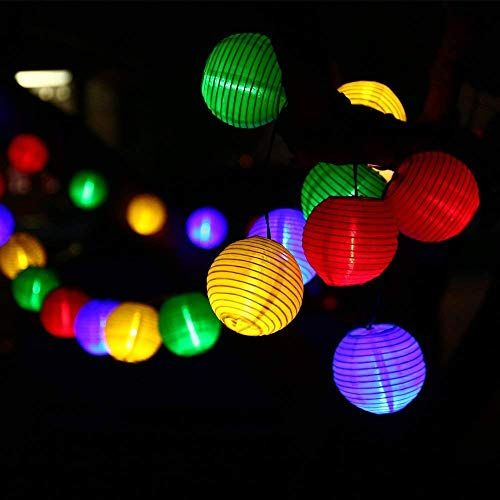 Qedertek Guirlande Lumineuse Solaire 30 Lanterne Led