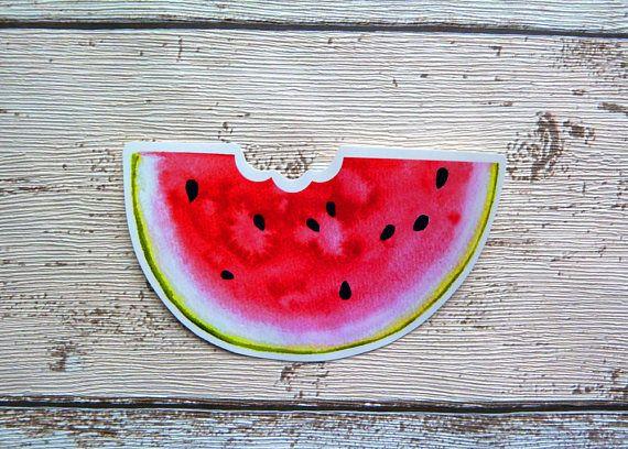 Watermelon Slice Gloss Vinyl Sticker Laptop Stickers Summer