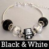Black And White European Photo Beads Bracelet Kit