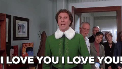 i love you will ferrell elf christmas movies buddy the elf #humor #hilarious #funny #lol #rofl #lmao #memes #cute