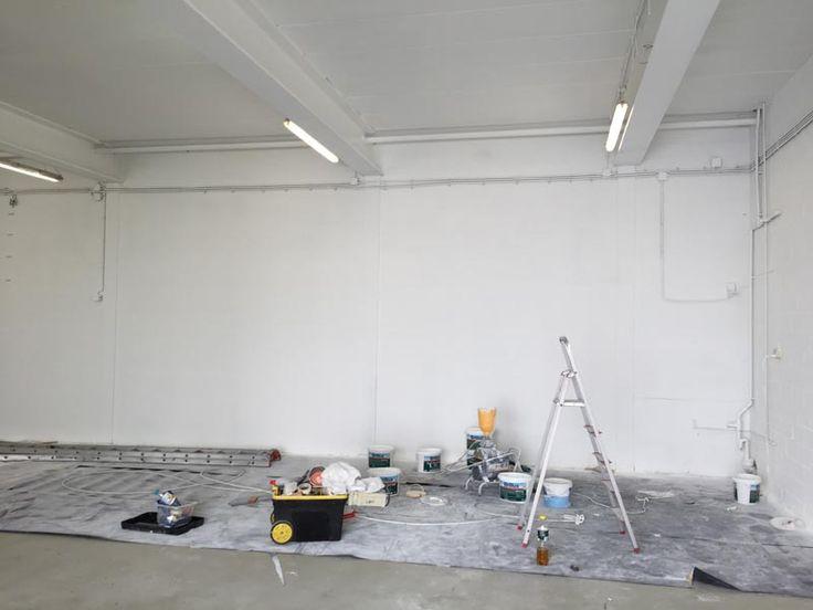 Latex spuiten Leiden - latex spuitwerk bedrijfsruimte