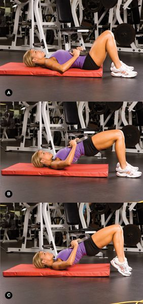 Hip Thrusts for a Tight Butt. Add this lower-body move to your routine. It's a great glutes exercise for both at home and at the gym