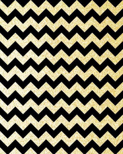 Gold and black chevron wallpaper | Wall paper | Pinterest ...