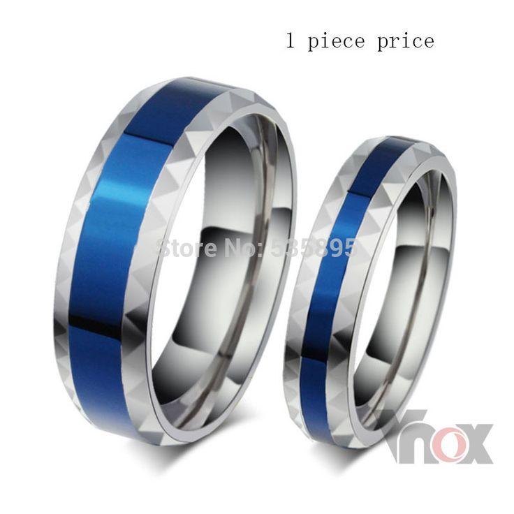 новая свадебная мода ювелирные изделия кольца нержавеющая сталь обручальное кольцо для его и ее палец кольца бесплатной доставкой