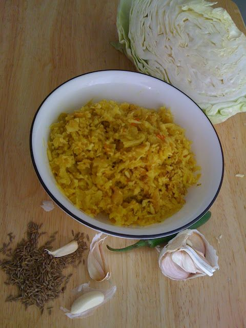 ... : Cabbage thoran / Muttakose upperi / Cabbage stir -fry Kerala style