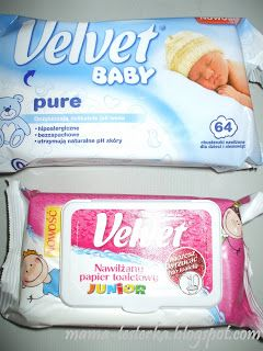 mama-testerka: Chusteczki nawilżane Velvet BABY Pure i Nawilżany ...