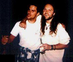 ~Lars Ulrich With Original Metallica Bass Player Ron Mcgovney~