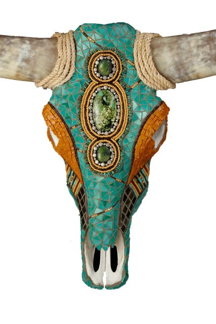 beaded cow skull - Google Search                                                                                                                                                                                 Más