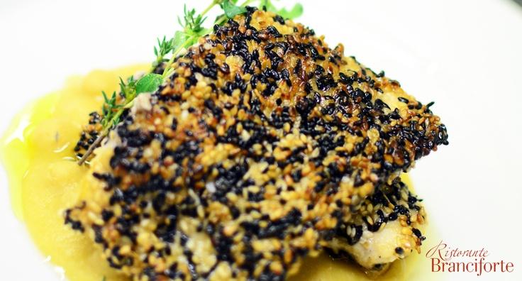 Pesce in crosta di sesamo - Ristorante Branciforte