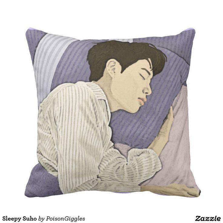 Sleepy Suho Throw Pillow