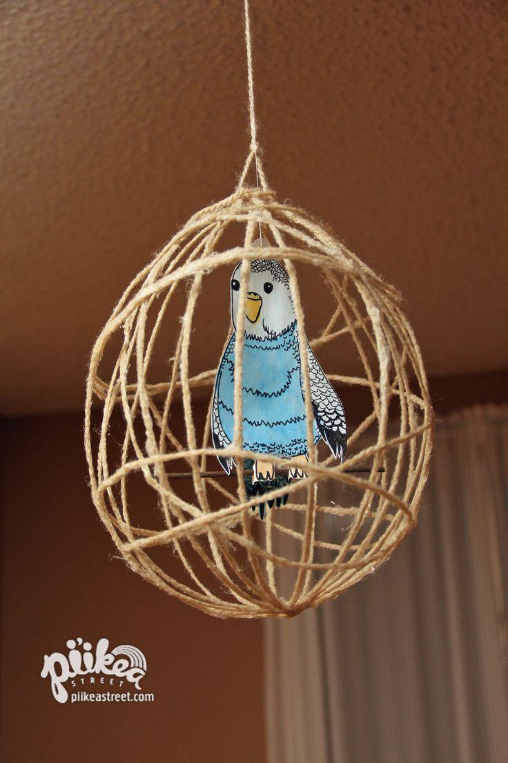 Polly want a cracker! Bird & Cage Craft. An Original #kids #craft by www.piikeastreet.com #piikeastreet
