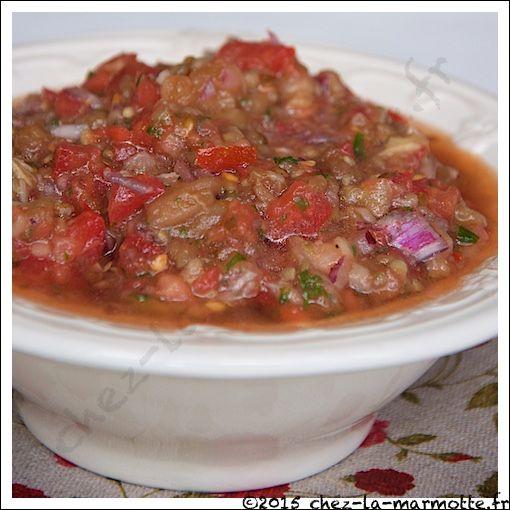 Salade d'aubergines libanaise