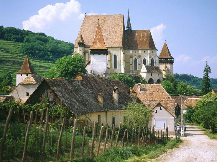 Saxon Fortified Church of Biertan , Transylvania, Romania.