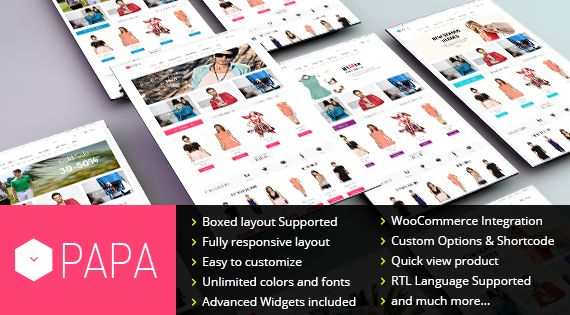 SW Papa is a responsive WordPress theme with eCommerce plugin supported. Designed for fashion, jewelry or wedding website... Check it out now!
