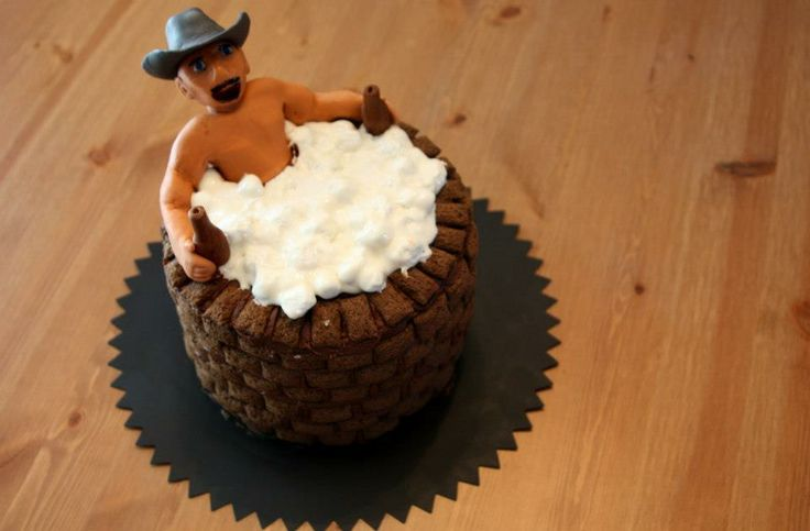 Redneck Birthday - * Fondant, marshmellow, and chocolate cereal over a chocolate fudge cake with vanilla buttercream