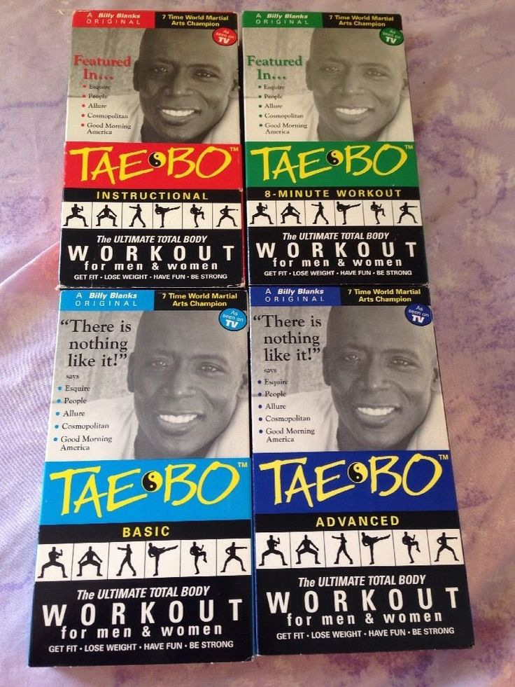 Tae Bo VHS Lot Of 4 Videos Billy Blanks Basic & Advanced Workout Total Body