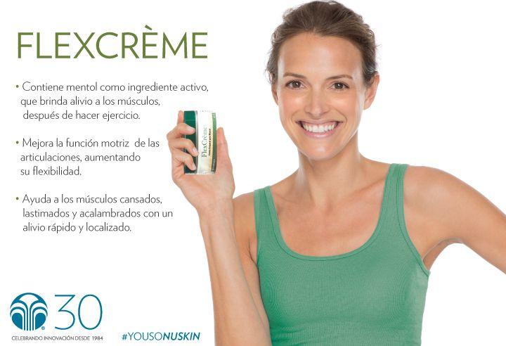 FlexCrème es una crema que calma la tensión y relaja el músculo para una mejor movilidad. #YoUsoNuSkin