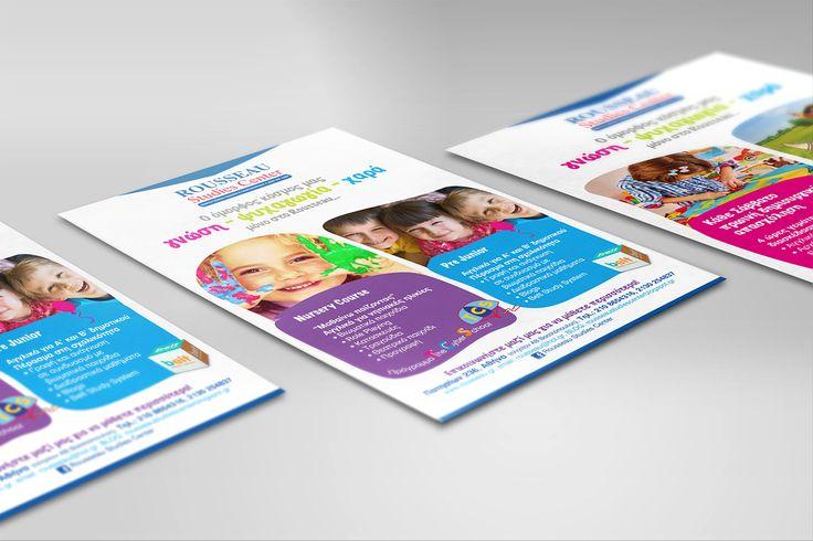 Rousseau Education Center on Behance #brochure #A4 #foreignlanguages #education #floatingconcepts