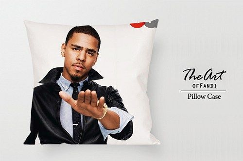 """J cole - Custom Square 18""""x18"""" One Side Pillow Case"""