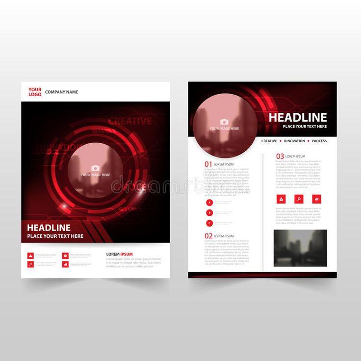 Red black technology Vector annual report Leaflet Brochure Flyer template design , #SPONSORED, #Leaflet, #report, #Flyer, #Brochure,
